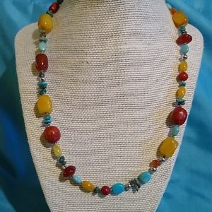 Sterling Silver Southwestern Bead Necklace